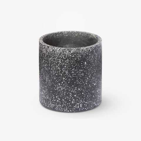 Terrazo Pot in Charcoal