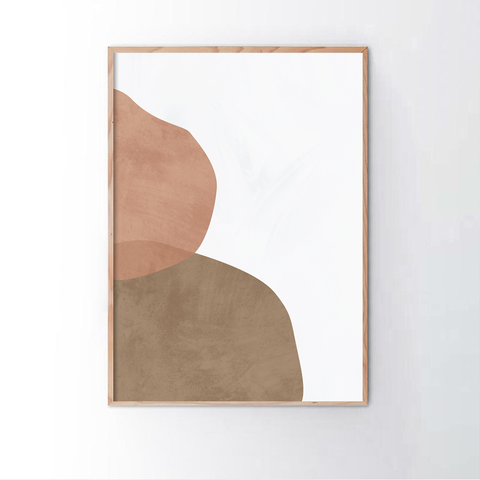 Geometric Abstract Blush 2 Frame