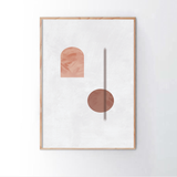 Geometric Abstract Blush 4 Frame