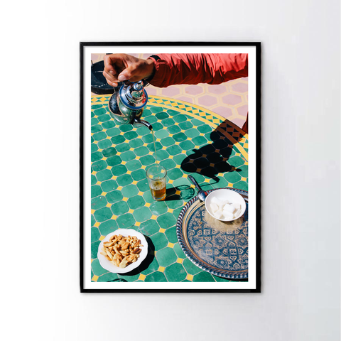 Tea Time at Morocco Frame
