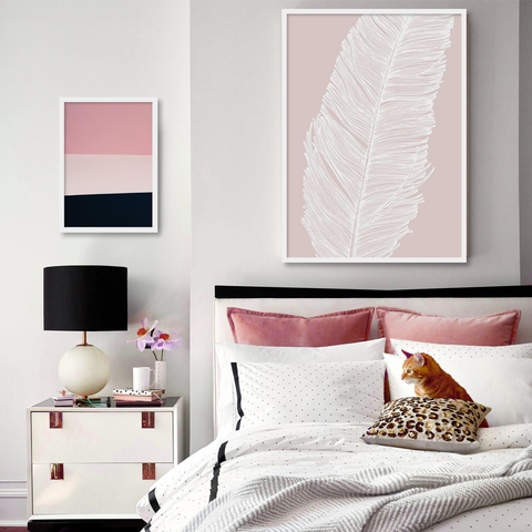 Black & Pink - Set of multiple art prints