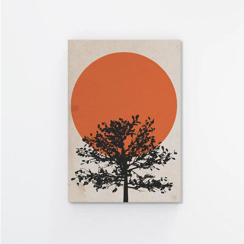 Orange Sundown Canvas Print