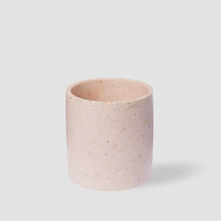 Terrazo Pot in Pink Champagne