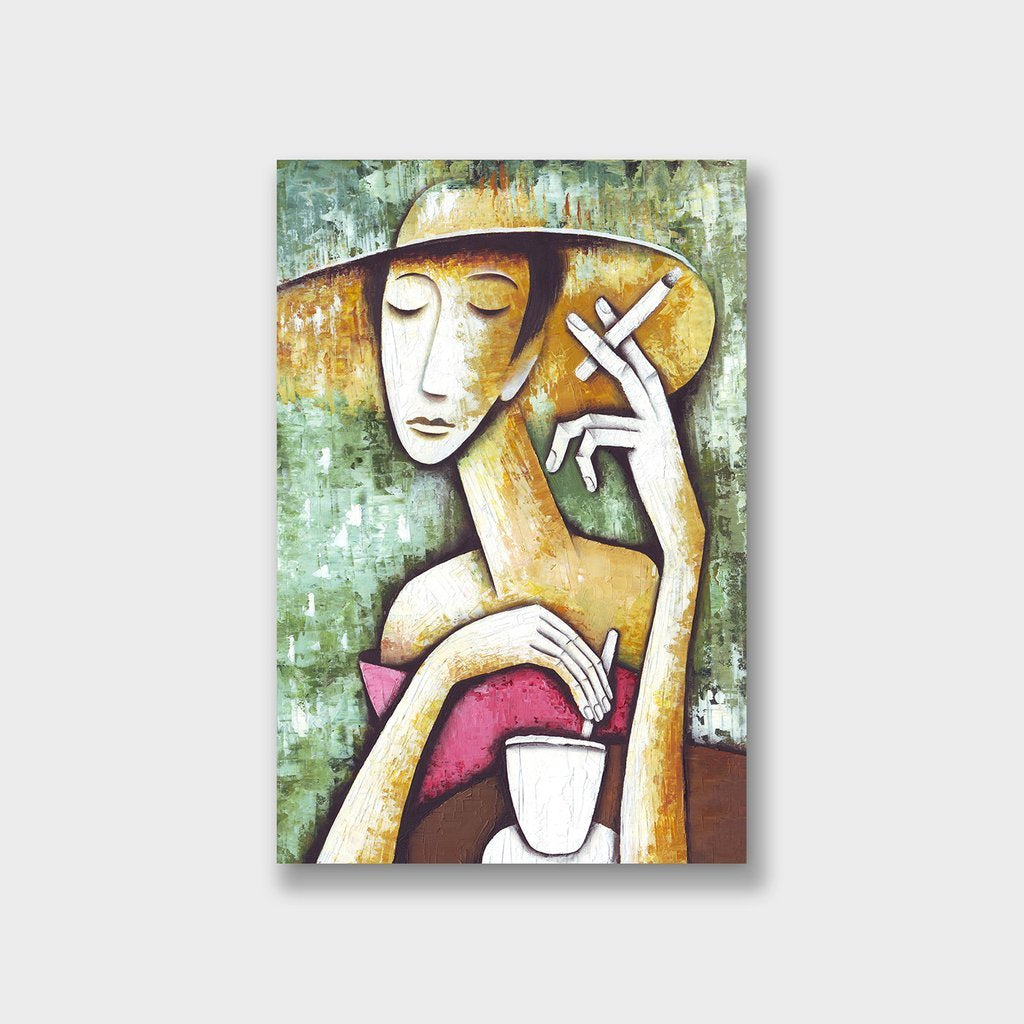tranh canvas đẹp the lady with a cigarette từ Soyn tại Sonice TPHCM