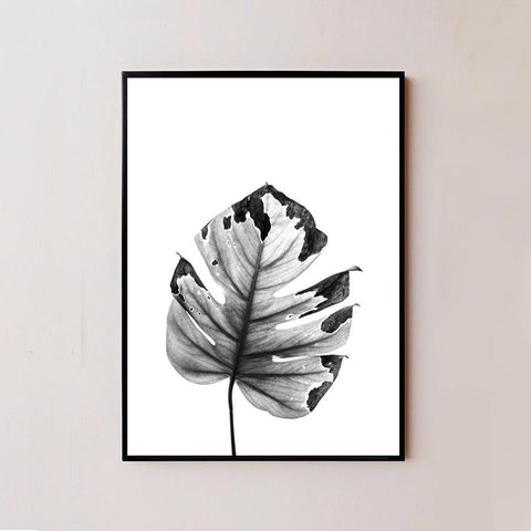 Black and White Minimal Plant VII Frame