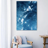 tranh canvas Blue Abstract Waves tại Sonice TPHCM