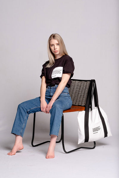 White Tote Bag - Sonneblom