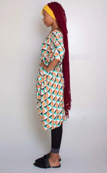 VNeck Kaftan Dress