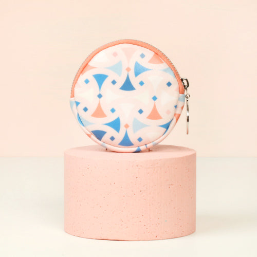 ROUND PURSE (SMALL) - SANTORINI
