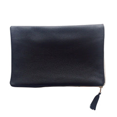 CLUTCH WITH LEATHER BACK - GRID (REVERSIBLE)