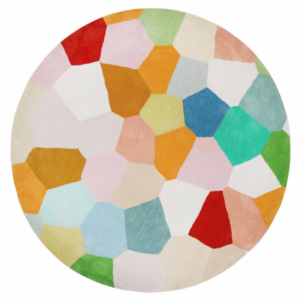 PASTEL GLASS HAND TUFTED RUG (All-ware) ROUND 200cm