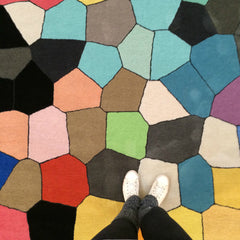 PIXEL HAND TUFTED RUG (All-ware) ROUND 200cm