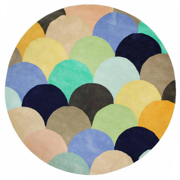 MACAROONS SKY HAND TUFTED RUG (All-ware) ROUND 200cm