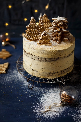 Gingerbread cake with brandy butter frosting