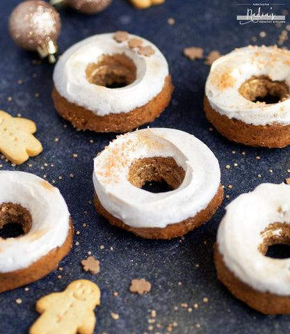 Vegan gingerbread doughnuts