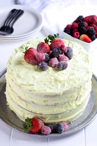 Vegan lemon layer cake