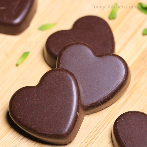chocolate vegan mint hearts