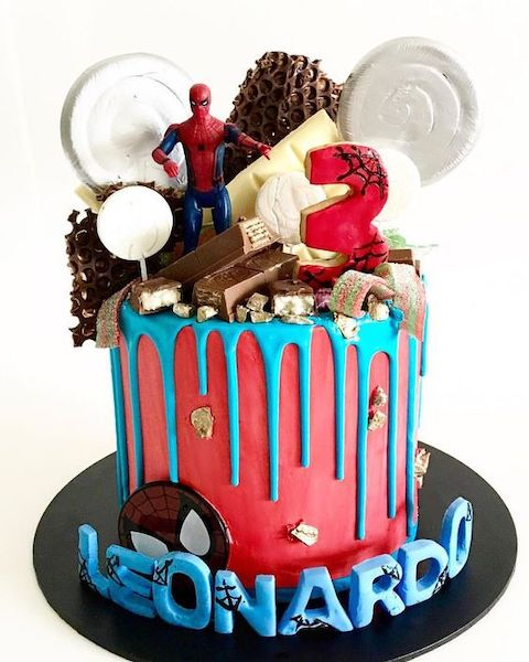Fantastic 9 Ways To Decorate A Spiderman Birthday Cake Baking Time Club Personalised Birthday Cards Veneteletsinfo