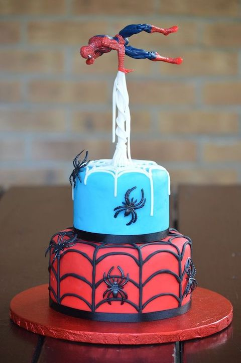 Astonishing 9 Ways To Decorate A Spiderman Birthday Cake Baking Time Club Funny Birthday Cards Online Inifofree Goldxyz