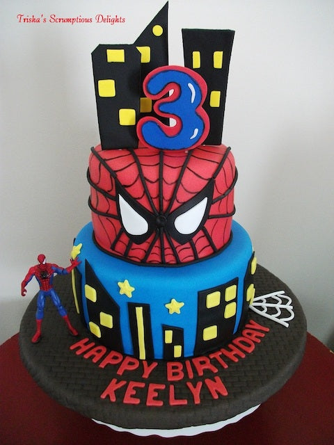 Outstanding 9 Ways To Decorate A Spiderman Birthday Cake Baking Time Club Personalised Birthday Cards Beptaeletsinfo