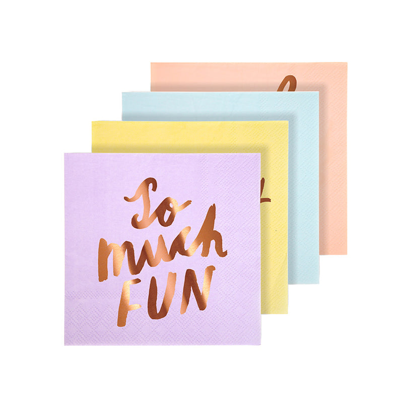 Small Typographic Napkins