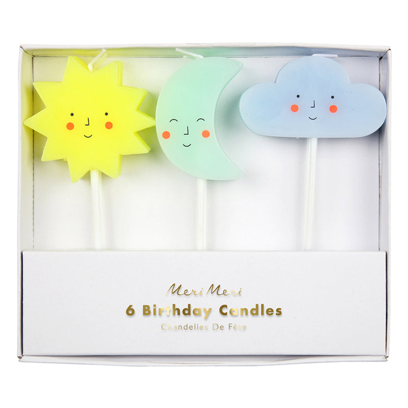 Sun, Moon and Cloud Candles