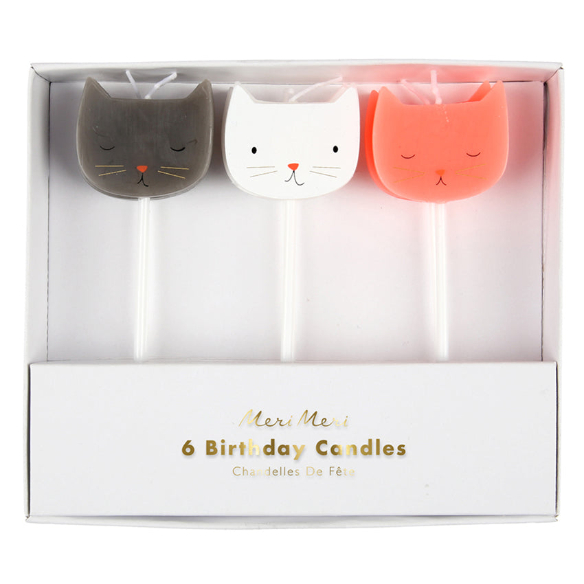 3 Cat Candles (Pack of 6)