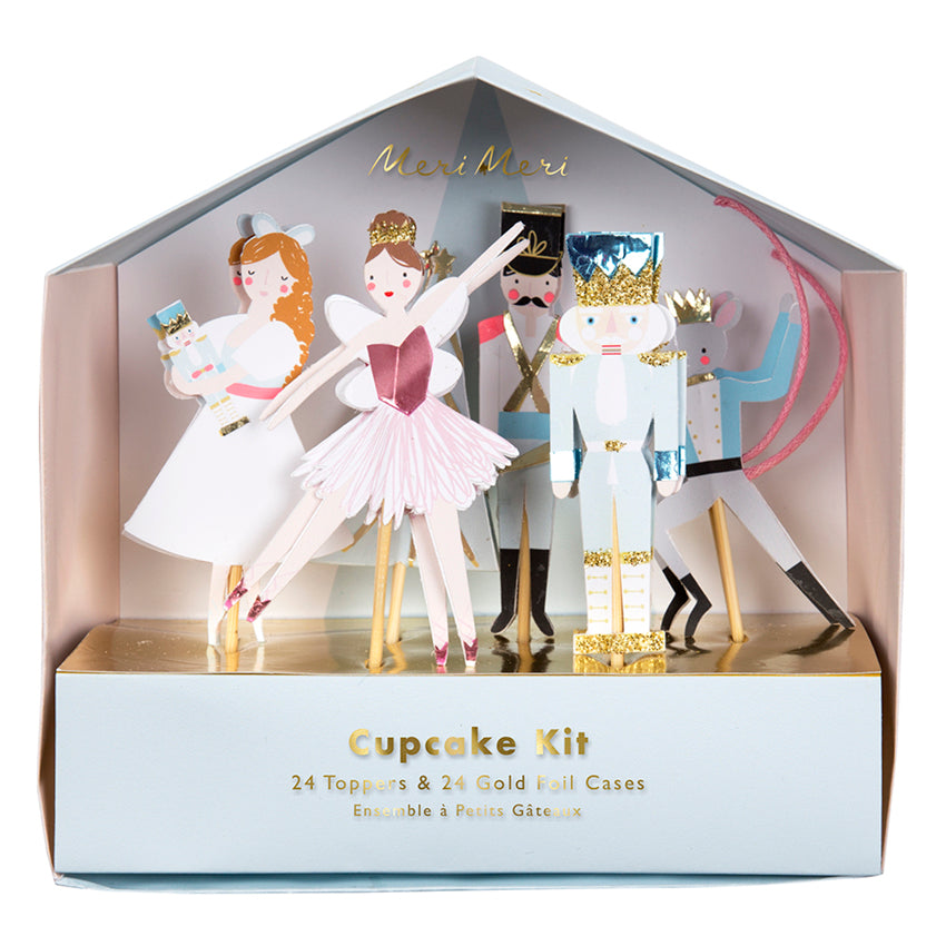 Nutcracker Christmas Cupcake Kit