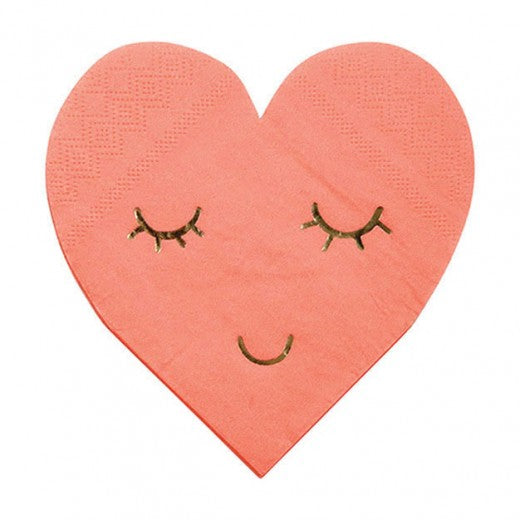 Blushing Hearts Napkins