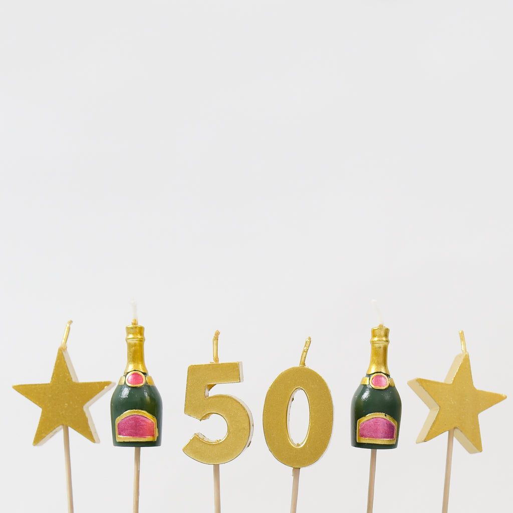 50th Milestone Birthday / Anniversary 3D Candles Set