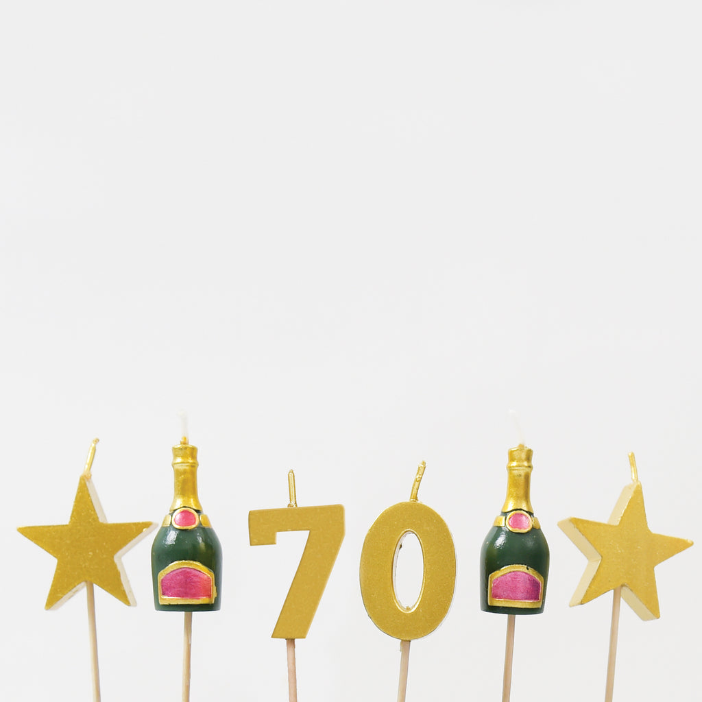 70th Milestone Birthday / Anniversary 3D Candles Set