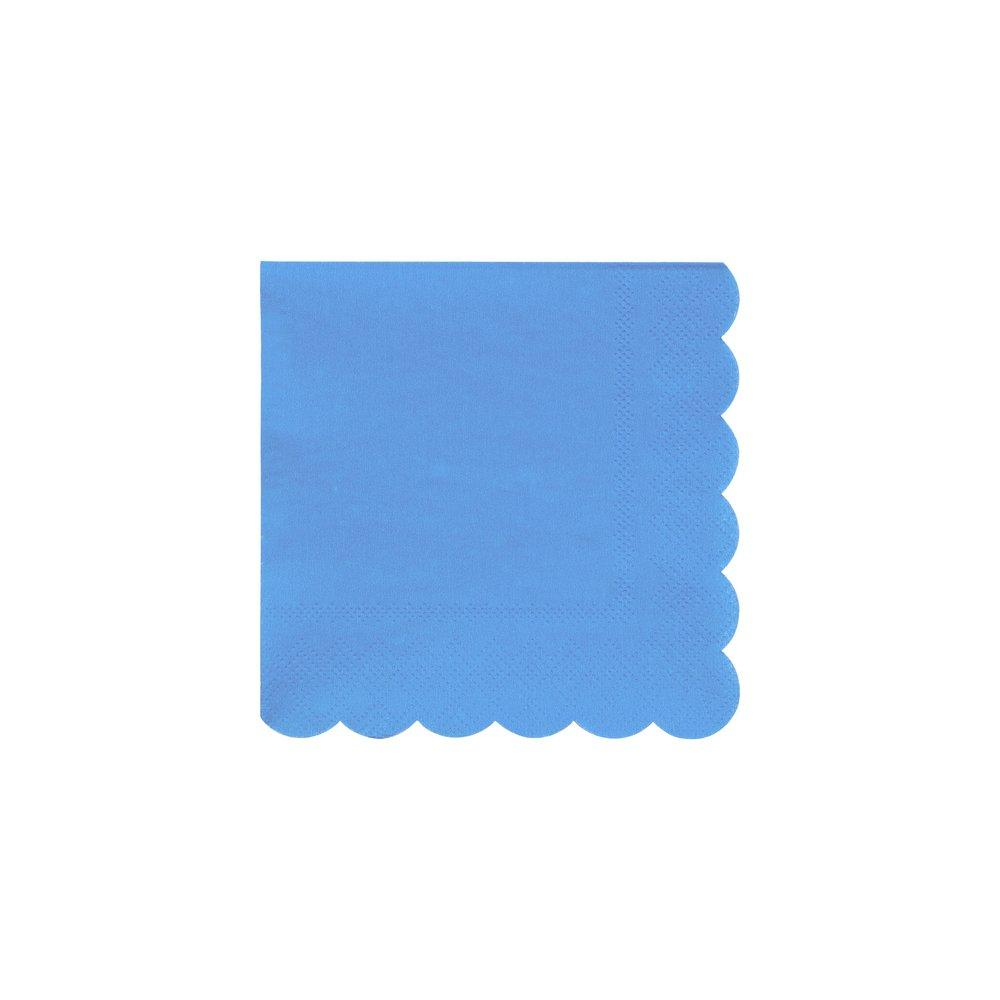 Bright Blue Small Napkins Pack of 20