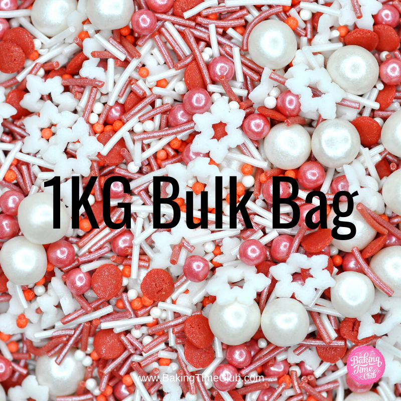 Bulk Bag - Candy Cane Christmas Sprinkles (Best Before 13 June 2020)