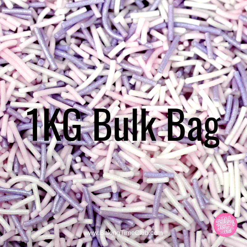 Bulk Bag - Princess (was Cotton Candy) Sugar Strands (Best Before 06 April 2020)