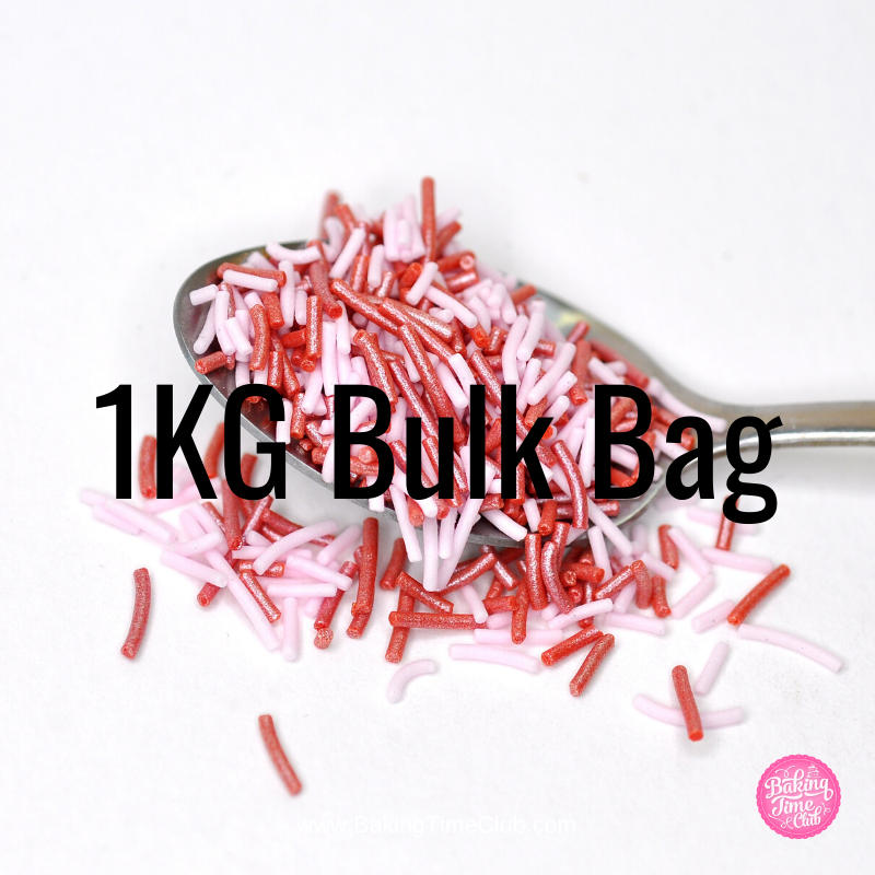 Bulk Bag - Valentine's Sugar Strand Sprinkles Mix (Best Before 02 April 2021)