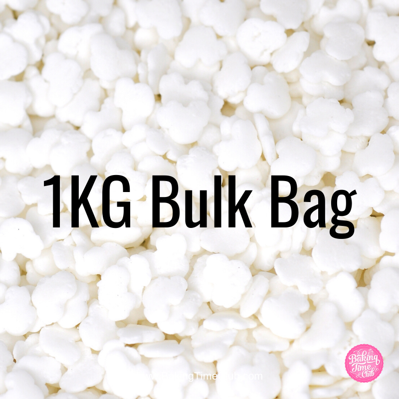 Bulk Bag - White Confetti Clouds Sprinkles (Best Before 09 Apr 2021)