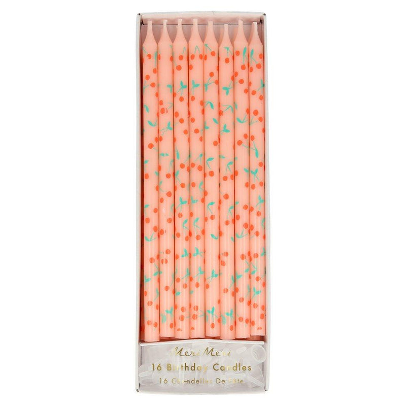 Cherry Pattern Candles Pack of 16