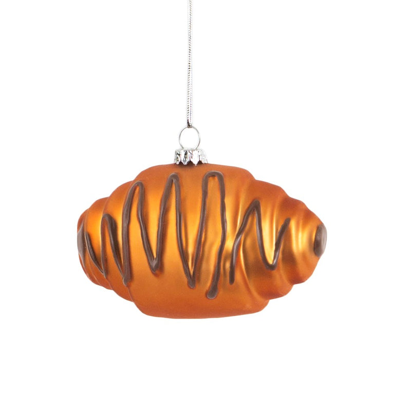 Chocolate Croissant Hanging Decoration Bauble