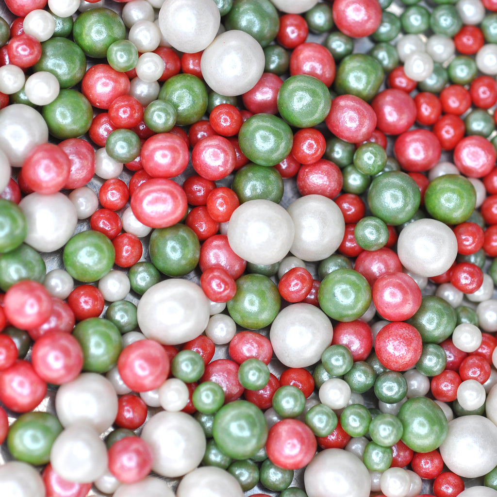 Christmas Pearls Sprinkles (Best Before 02 Jan 2021)