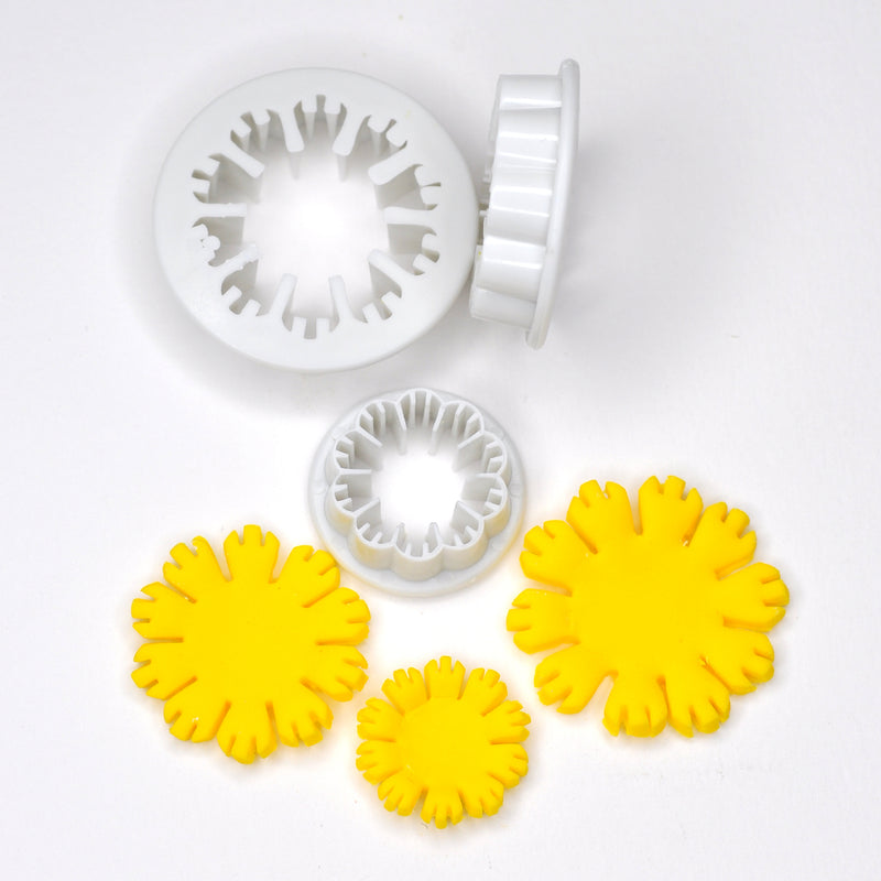 Dandelion Flower Fondant Cutter (Set of 3)
