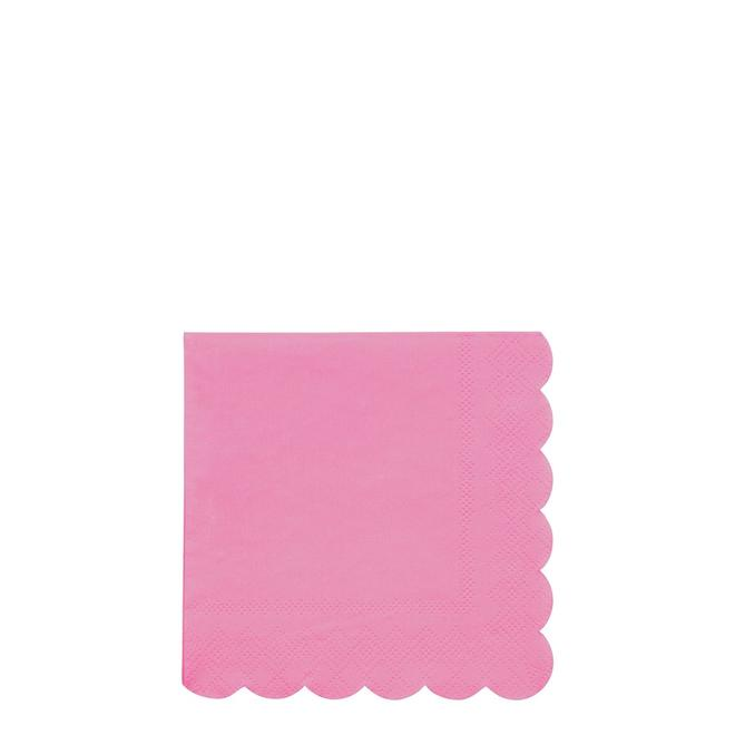 Deep Pink Small Napkins Pack of 20