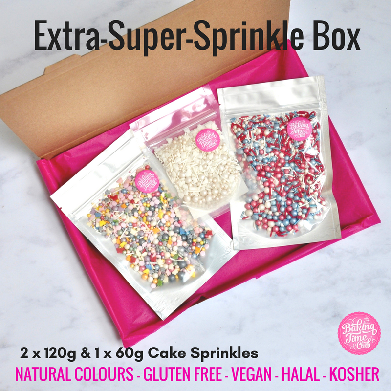 Extra-Super-Sprinkle Box 2 x 120g 1 x 60g