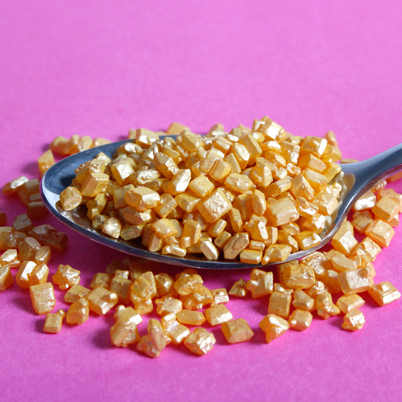 Gold Sugar Crystals Sprinkles (Best Before 31 Aug 2022)