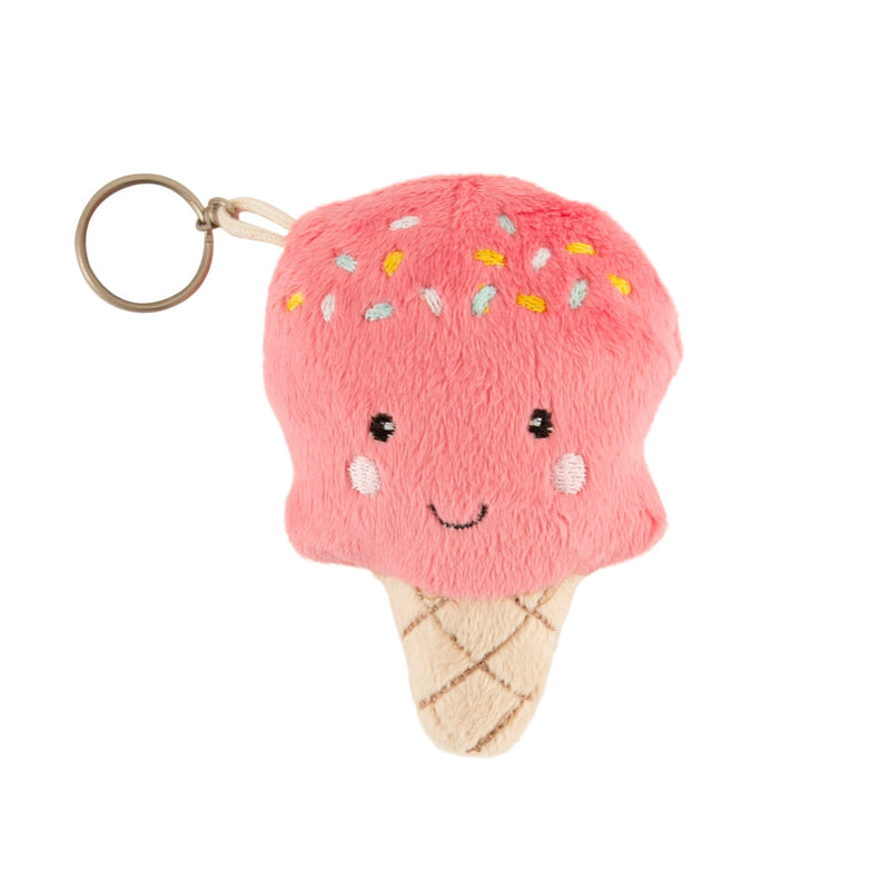 Happy Ice Cream Plush Bag Charm Keyring