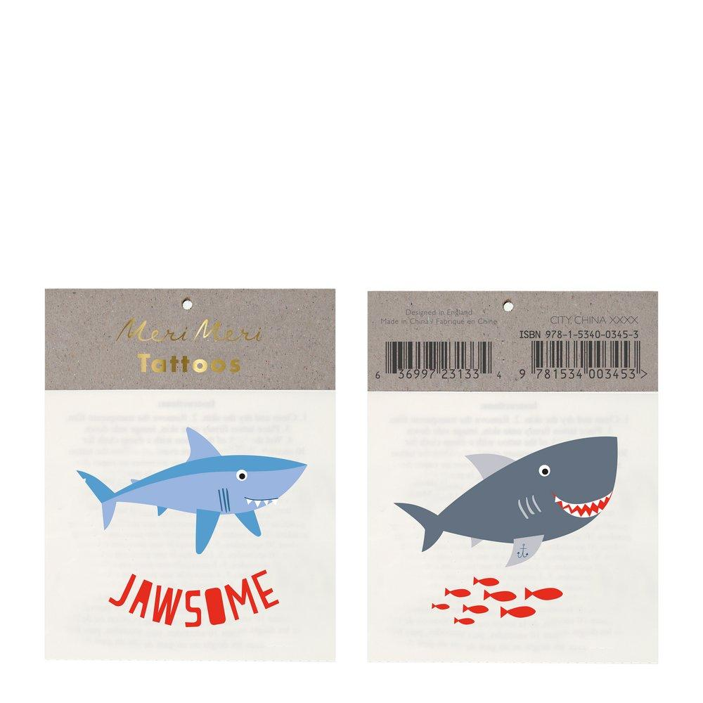 Jawsome Small Tattoos Pack of 2 Sheets