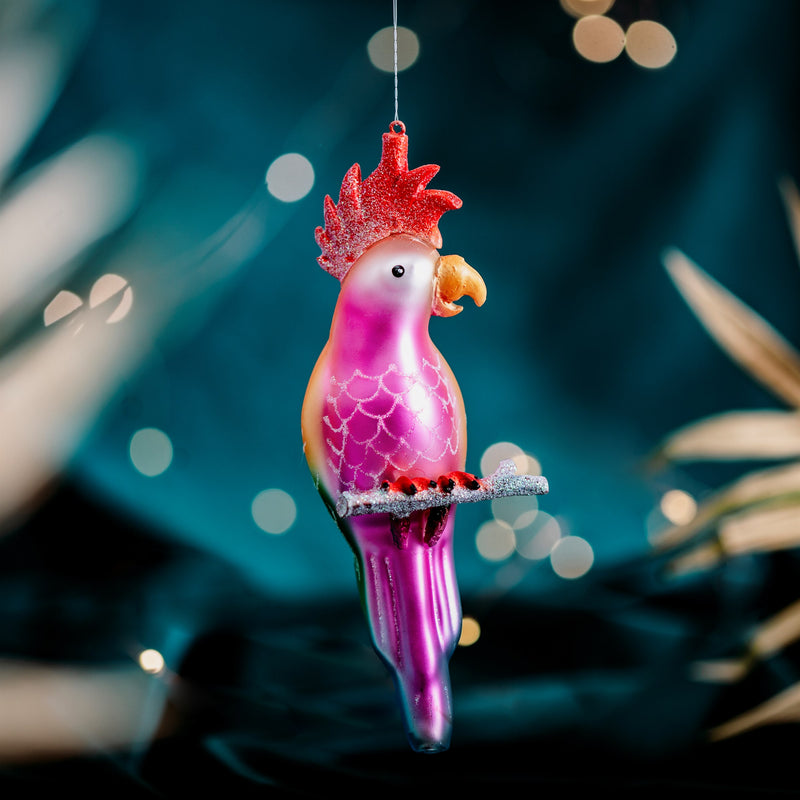 Jungle Fun Parrot Shaped Bauble Hanging Decoration