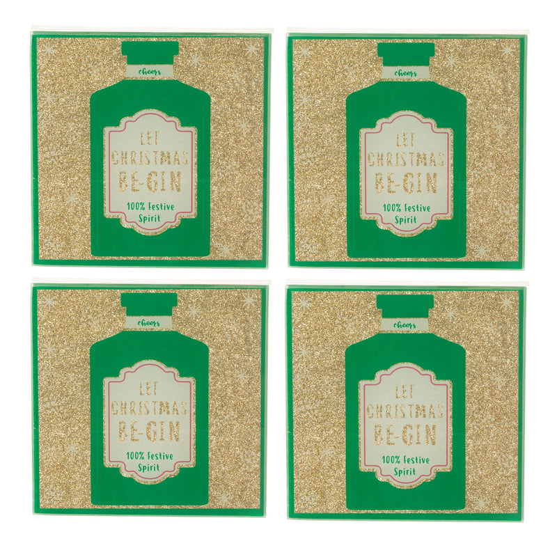 Let Christmas Be-gin Coasters - Set of 4