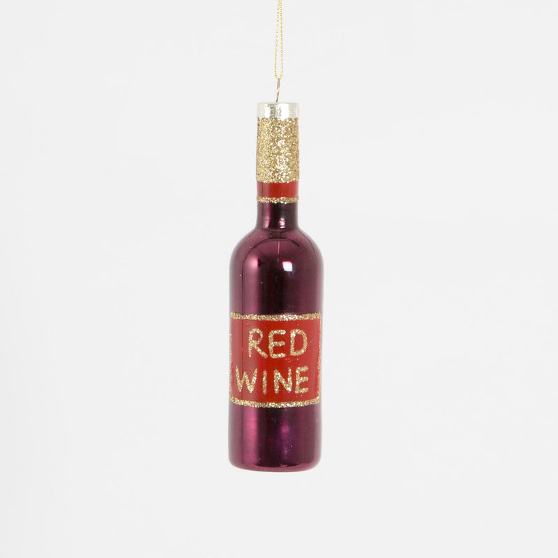 Lets Celebrate Red Wine Bottle Shaped Bauble Hanging Decoration