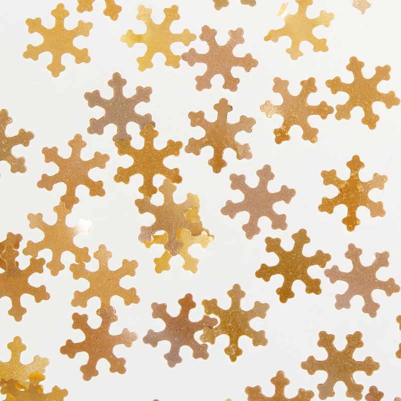 Luxury Gold Glitter Snowflake Sprinkles (Best Before 17 July 2021)