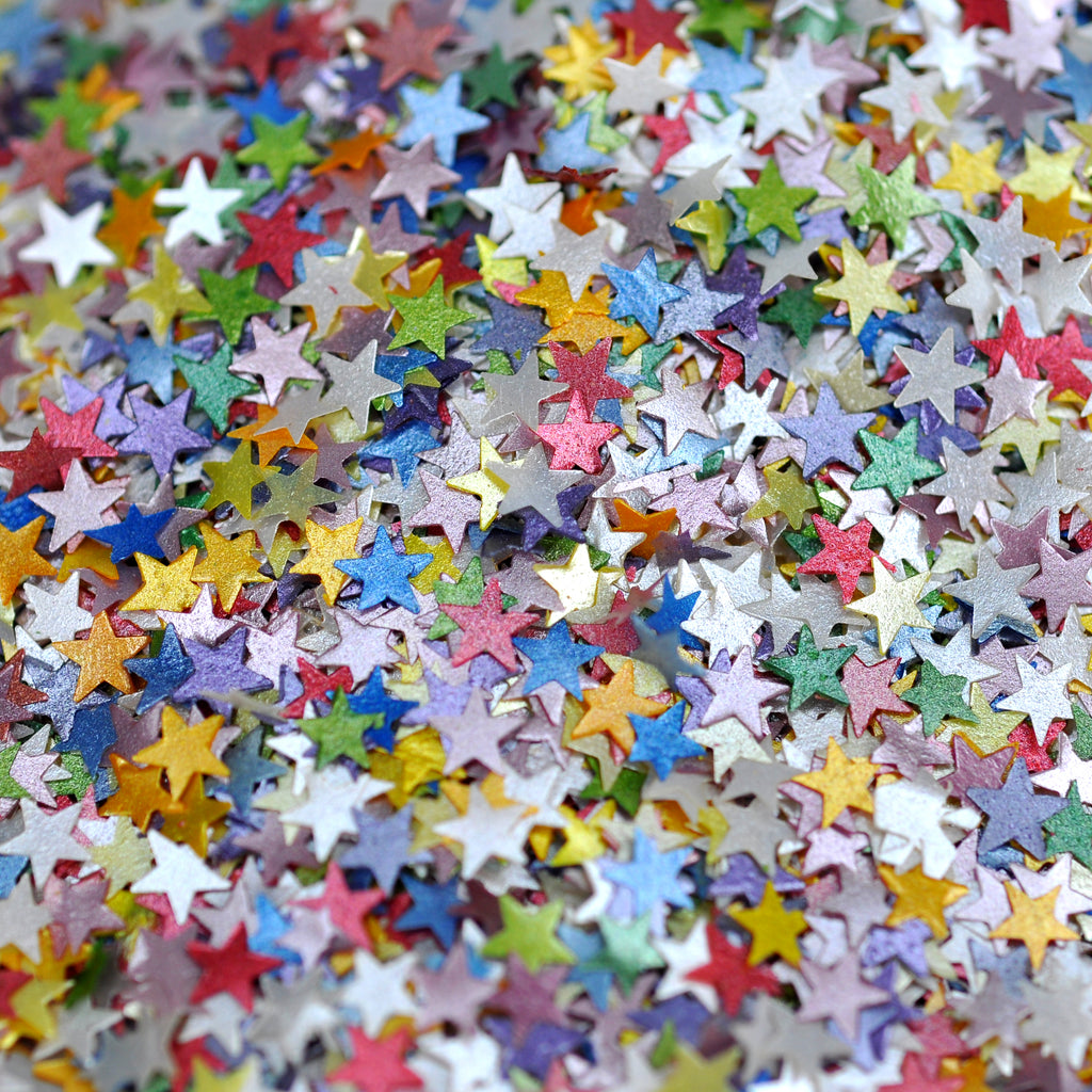 Luxury Rainbow Glitter Stars Sprinkles (Best Before 31 Jan 2021)